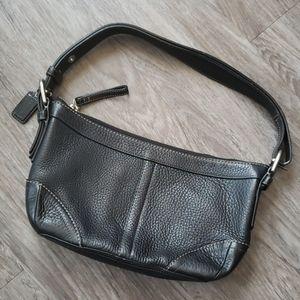 Coach Black Pebbled Leather Shoulder Bag Vintage